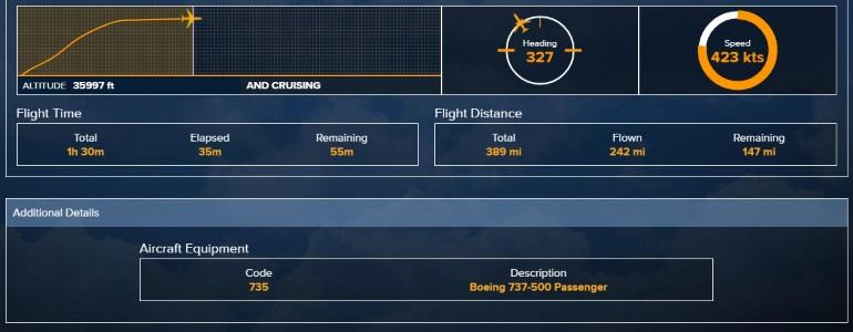 FlightStats: Flight Time, Flight Distance